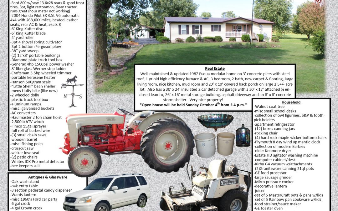 Treece Moving & Real Estate Auction
